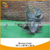 Life-size Bronze Lizard Sculpture Bronze Animal Sculpture Small Animal Sculpture Bronze Animal Garden Sculptures