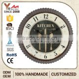 Newest Customized Logo French Country Tuscan Style Bottle Cap Shape Country Style Wall Clocks