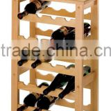 eco-friendly Bamboo Stackable Wine stand 7 tiers Bamboo Wine Rack wine display table