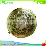hot selling new Fancy flower light cosmetic pocket makeup mirror for lady's make up                                                                         Quality Choice
