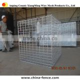 Hot sale steel iron welded galvanized 50mmx50mm mesh gabion size gabion box / gabion basket for sale