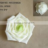 "Elegant Artificial PE Flower 9"" Artificial PE Wedding Rose Head"
