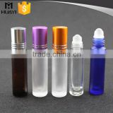 8ml and 10ml frosted blue glass roll on bottle for essential oil with black cap                                                                         Quality Choice