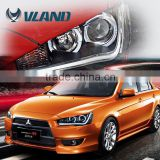 CE, Rohs, and 12V voltage Vland China wholesaler auto parts Japan cars automotive lamps lancer ex headlight