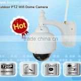 Outdoor wifi ptz dome ip camera megapixel ir ip Medium speed dome camera from HVCAM technology