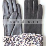 Fashion Suede Leather Glove For Ladies