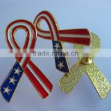Metal ribbon AIDS lapel pins for activity