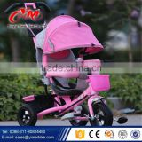 Baby tricycle stoller with back seat / smart recliner baby toy tricycle / children baby trike with canopy