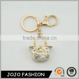 Wholesale mini crystal handbag keychain, enamel metal keychain/