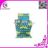 Blue color wax matching bag WB-0163 african wax print dresses for big wedding dress
