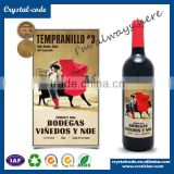 Screen printing matt lamination hot stamping glossy lamination good adhesive wine label