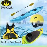 Double Sit In Sea Kayak with Gold Kayak Brand