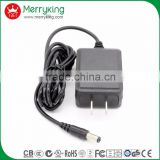 Easy to carry 12V1A AC DC travel adapter US plug 12W DOE VI power adapter free samples