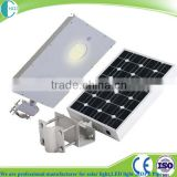 Aluminum Alloy Lamp Body and mono solar panel integrated solar street light with 20w 30w 60w 80w