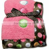 Colourful Animal Printed knitting patterns baby blankets