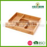 High quality bamboo Wood flatware organizer, flatware tray,cutlery tray