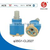 35mm Double-level seal Flat Base Plastic Faucet Cartridge