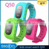 Q50 Children Smart Watch phone GPS Local Tracker SOS Emergency Telecom Monitor GSM GPRS Anti-Lost Kid Wristwatch for Android IOS