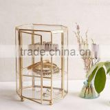 Glass & Metal Cabinet, Storage Glass Box, Glass Display Box, Bangle Box, Tea Bag Box Triangle Box,