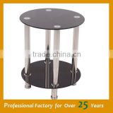 African coffee table simple design glass coffee table JY-12E