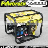 Best Performance!!! POWERGEN Open Type Air-cooled Key Start 50Hz/60Hz 110V-240V Single Phase 2KW Diesel Generator with Battery