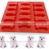 Funny food grade cheap high quality silicone dog bone cake mold