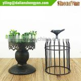 Handmade metal bird cage handleholder centerpiece for wedding