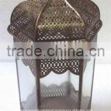 Bronze finished brass moroccon candle Lantern, moroccon floor lantern,