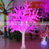 Home garden decorative 250cm Height outdoor artificial pink flashing LED solar lighted up trees EDS06 1418