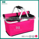 Carry collapsible foldable shopping basket