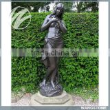 Elegant Western Nude Woman Bronze Sculpture