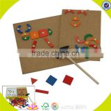 wholesale popular baby wooden diy puzzle toys high quality kids wooden block toy diy puzzle W03B012