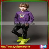 Child purple cotton with hood hoodie