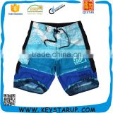 Mens Board Shorts Polyester Summer Full Print Beach Shorts