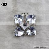 Fashion Classical Flower Shaped Crystal Rhinestone Ornament Accessories with metal clip for high heel shoe wedding shoes