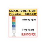 DC12/24V LTA207 industrial beacon five colors steady bulb tube signal lamp tower warning light five floors