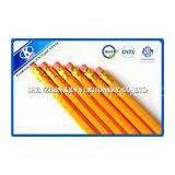 Yellow Hexagonal Wooden Graphite Pencil Set With Eraser For Students