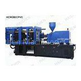 PVC Pipe Fitting Three Screw Injection Molding Machine With Colorful Screen Controller
