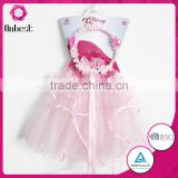 Wholesale birthday girl tutu dress set pink fashion tutu skirt + lace garland for baby girls