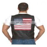 Mens Leather Vests HMB-0495A