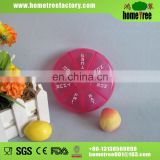 Most Popular Novetly Design Seven Days Plastic Mini Round Pill Box