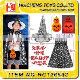 Party city 3 pcs 80cm cloak hat halloween costumes china wholesale with led pumpkin lantern