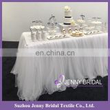 TS091 white bridal table skirting tutu table skirt spa massage table skirts