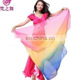 P-9036 High quality tencel gradient color 210*110cm belly dance veil scarf