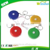 Winho bright color retractable measuring tape keychain