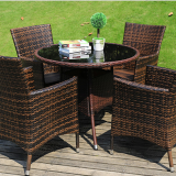 Usa Fireproofing Weatherproof Rattan Table Chairs Rattan Outdoor Furniture