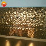 JYFQ-006 Golden Coated Mirror Etching 316 Decorative Stainless Steel Sheet