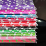 Polka Dot Paper Straws - Purple Pink Green Blue| Party Straws | Colorful Drinking Straws | Eco Friendly Biodegradable Straws