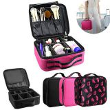 Makeup  Bag Case Organizer Portable Artist Storage Bag with Adjustable Dividers for Cosmetics Brushes Toiletry Jewely