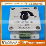 New!!! LED Dimmer Controller 12V ,24V, 8A ,Manual Switch, 1 Channel Led Dimmer Controller, Single Color Dimmer,CE RoHS